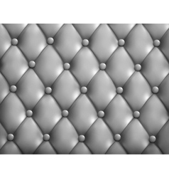 Grey button-tufted leather background vector