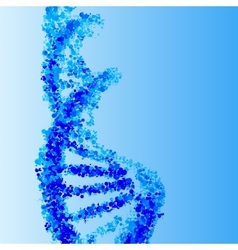 Dna helix background vector