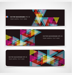 Banner abstract color background vector