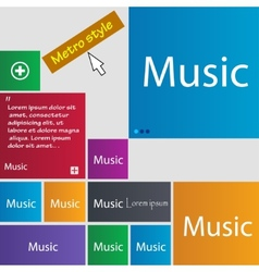 Music sign icon karaoke symbol set of colored vector