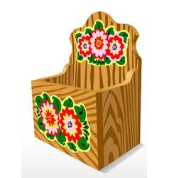 Wooden casket vector