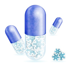 Christmas pills vector