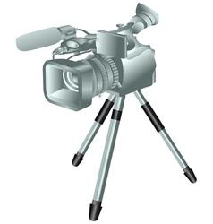 Camcorder on a tripod vector