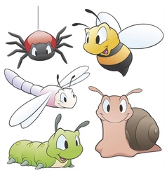 Cartoon garden animals vector