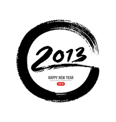 2013 new year message paint brush vector