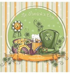 Greeting card for st patricks day vector