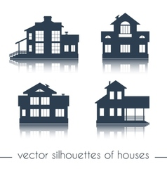 House silhouettes on white background vector