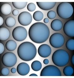 Metal speaker lattice blue background vector