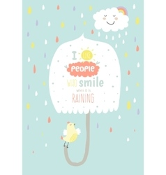 Cute card with character and vector