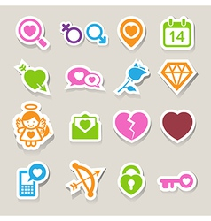 Valentines day icons set vector