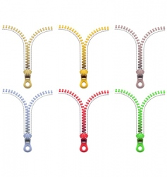 Zipper fasteners vector