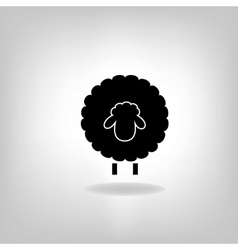 Black silhouette of sheep on a light background vector