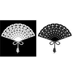 Fan - vintage - silhouettes vector