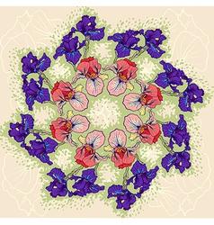 Iris pattern background vector