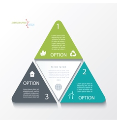 Business concept design with triangles vector