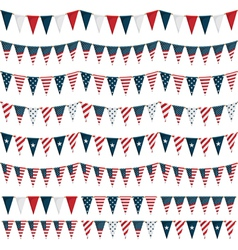 Usa party bunting vector