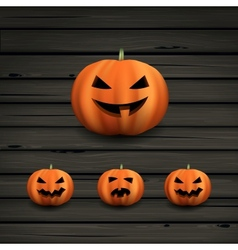 Haloween pumpkins vector