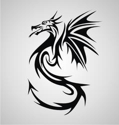 Dragon tribal vector