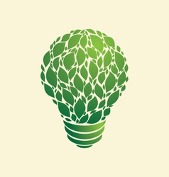 Green light bulb vector
