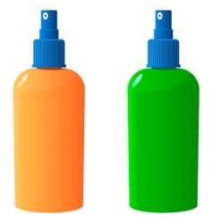 Sun protection bottle vector