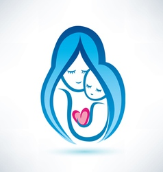 Mother and child symbol love concept vector