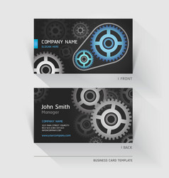 Business card abstract gear background vector