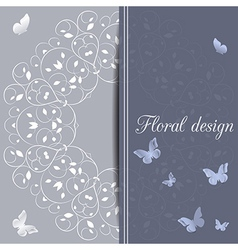 Flower design card vector