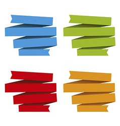 Folded ribbons banners differents colors vector