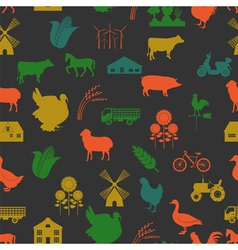 Agriculture background seamless vector