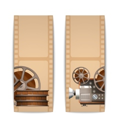 Cinema banners vertical vector
