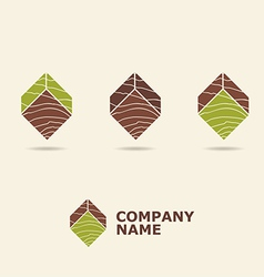 Wood style logotype vector