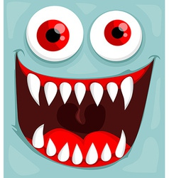 Cute monster face vector