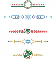 Christmas laces vector