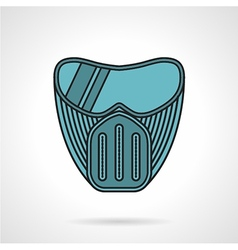 Blue paintball mask flat icon vector