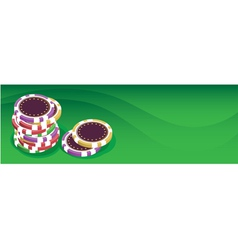 Playing chips vector