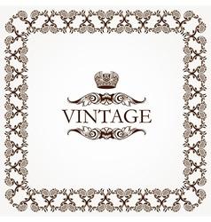 Vintage heraldic imperial frame vector