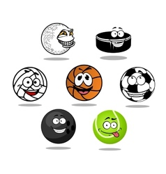 Cartoon game balls characters vector