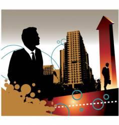 Business landscape vector