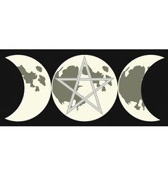 Triple goddess sign vector