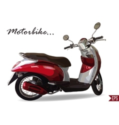 Summer travel design - red scooter vector