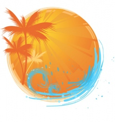 Palms banner vector