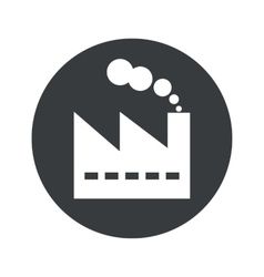 Monochrome round factory icon vector