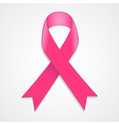 Breast cancer awareness pink ribbon on white vector