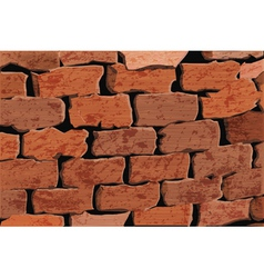 Background of a red brick wall vector