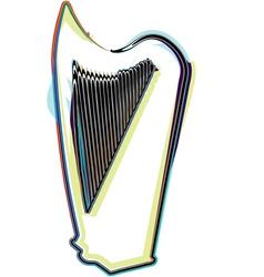 Abstract harp vector
