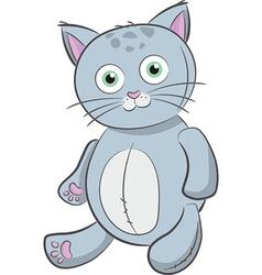 Grey cat toy vector