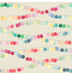 Seamless background with multicolored garlands vector