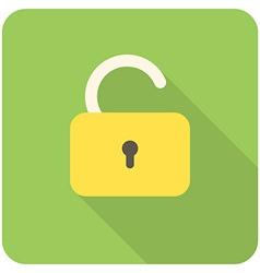 Lock open icon vector