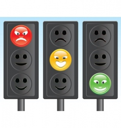Traffic light smiley vector