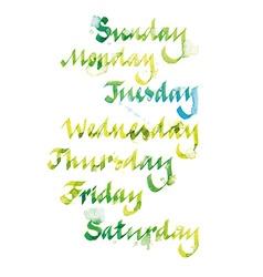 Week calligraphy vector